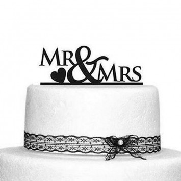 Cake Topper 'Mr & Mrs'